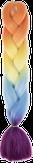 HIVISION Канекалон для афрокосичек оранж/желт/гол/фуксия # 60