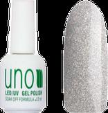 UNO Гель-лак 109 Серебряная пыль - Silver Dust, 12 мл.