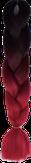 HIVISION Канекалон для афрокосичек черный/красный # 01