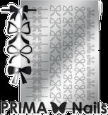 Prima Nails Металлизированные наклейки PR-001, Серебро