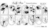 Lucky Rose Слайдер-дизайн Black 30