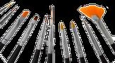 Irisk Набор кистей для дизайна, 10 предметов К326-10