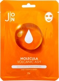 J:ON Molecula Volcanic Daily Essence Mask Тканевая маска для лица с вулканическим пеплом 23 мл