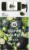 Byvibes Wonder Bath Super Vegitoks Mask Green Тканевая маска 2-х этапная с детокс эффектом