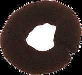 Dewal Валик для прически, сетка с кнопкой, коричневый 25 см.