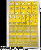 """Prima Nails Трафарет для дизайна ногтей, """"Морской микс 2"""""""