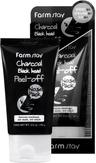 FarmStay Charcoal Black Head Peel-off Mask pack Маска-пленка очищающая с древесным углем 100 гр